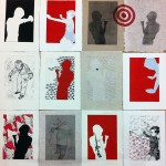 Monoprint / stencil images by Kerry Spokes