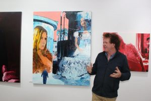 Stephen Janson at exhibition opening