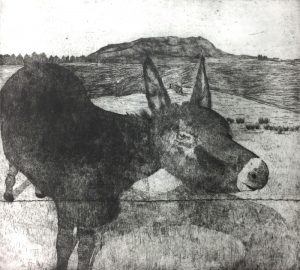 Muckish Mountain Dream- etching - Karen Barnes