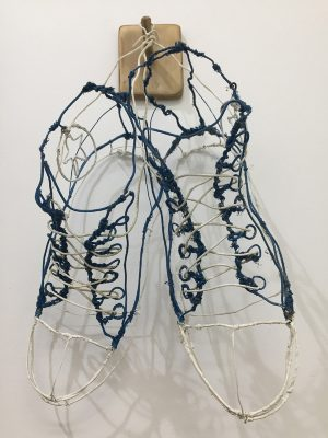 Grant Flather - High Hopes - Vintage electrical wire, enamel paint, acrylic paint. $500