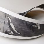 Lazauskas-mobius strip - birds in flight - charcoal on paper
